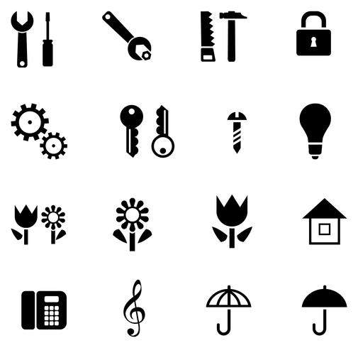 Set of isolated vector icons
