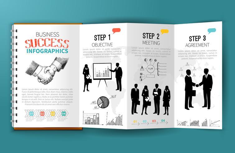 Folleto de infografías de negocios