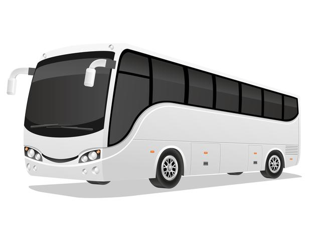illustration vectorielle de grand tour bus