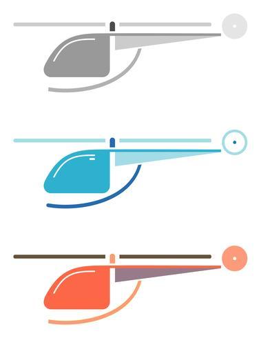 Elicottero - icona di vettore di colore