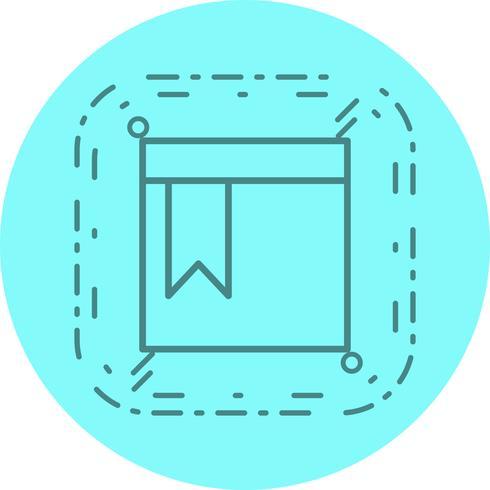 Conception d'icône de page marquée