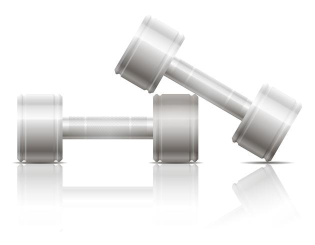 Ejercicios con mancuernas para deportes vector ilustración EPS 10