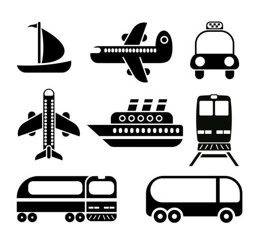 Transport ikonuppsättning
