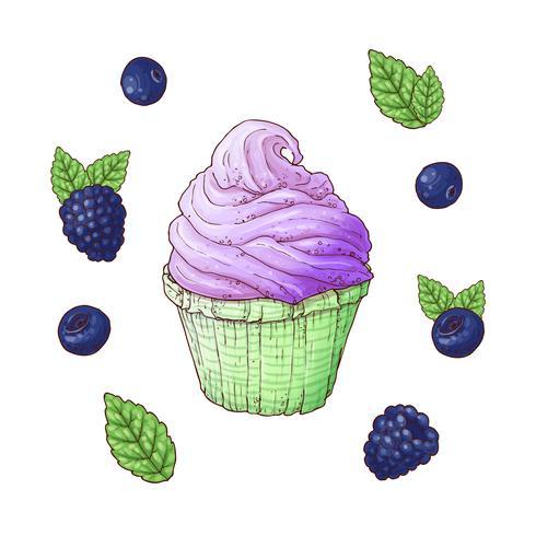Set of Ice cream cone vector illustration