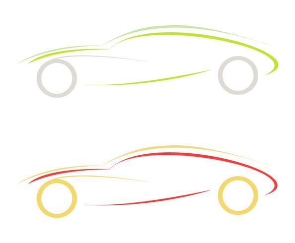 Sport car - vector icon