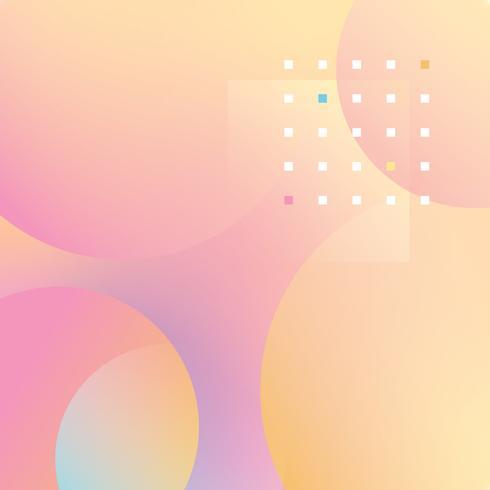 Pasteles creativos líquido burbujas de fondo vector