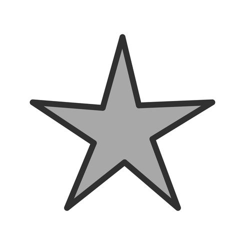 Diseño de icono de estrella vector