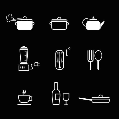 Icone della cucina - per caffè e ristoranti