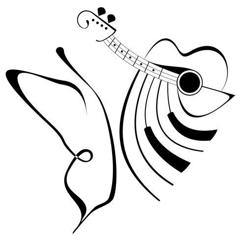 Muziek - abstracte vectorillustratie