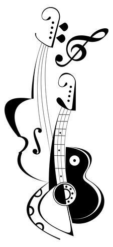 Muziekinstrumenten - vectorillustratie