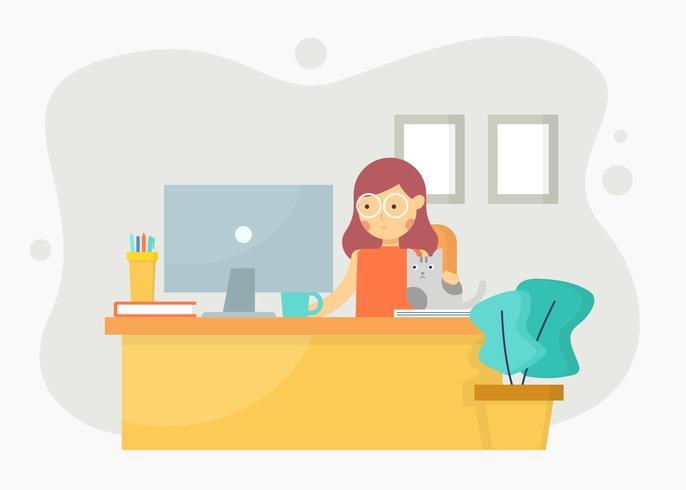 Mulheres no vetor de escritório