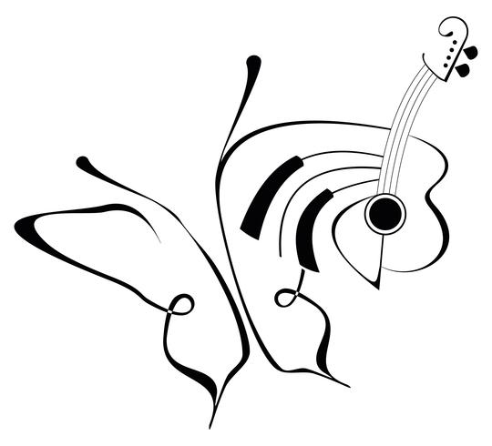 Música - ilustración vectorial abstracto