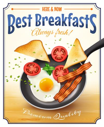 Restaurante Café da manhã Advertisement Retro Poster