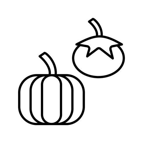 Icono de línea negra de verduras vector