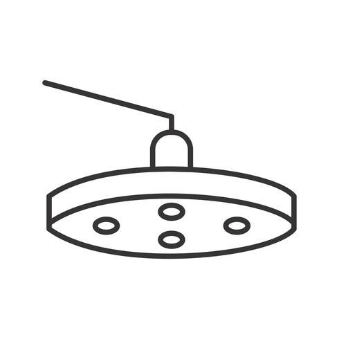 Luz de quirófano Line Black Icon vector