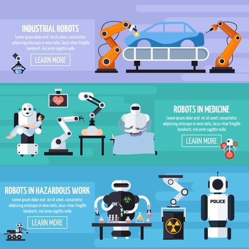 Robots Banners Set