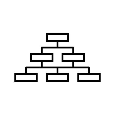Diagrama de flujo gráfico de barras línea icono negro vector