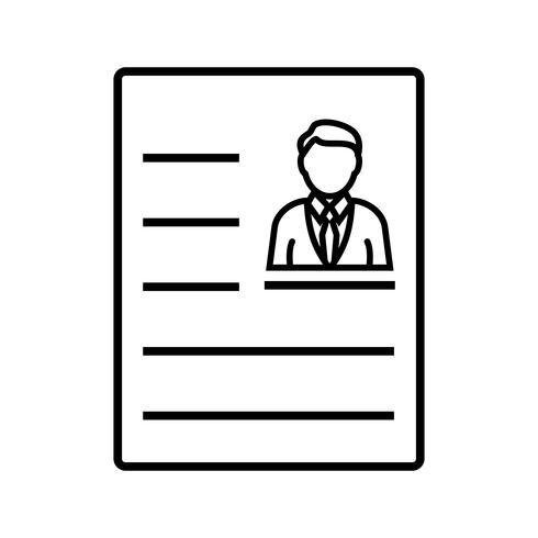 Zwarte pictogram accountregel