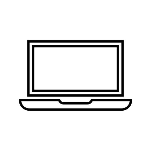 Estadísticas en línea Line Black Icon vector