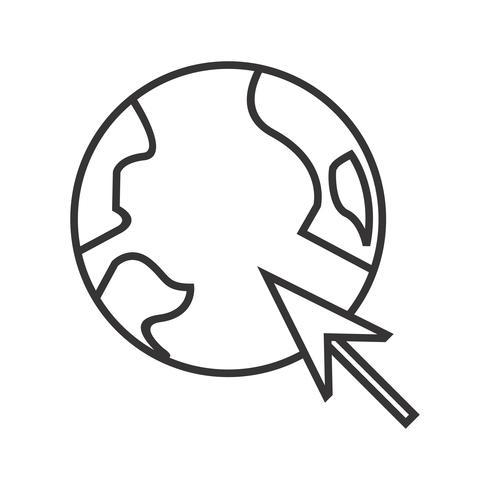 Navegador Line Black Icon vector