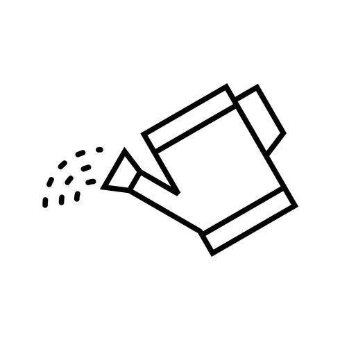 Icono de línea negra de plantas de agua