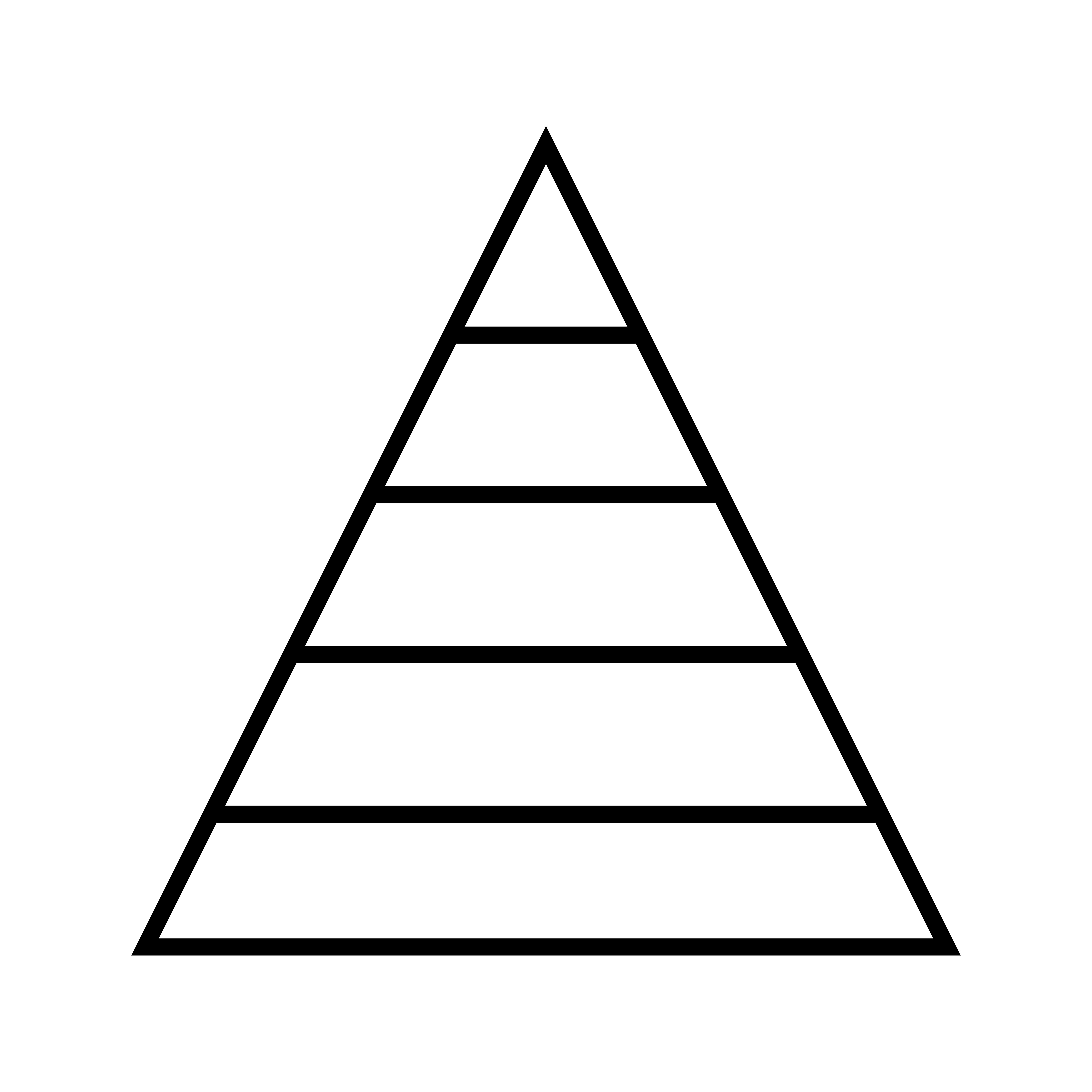 Pyramid Graph Line Black Icon
