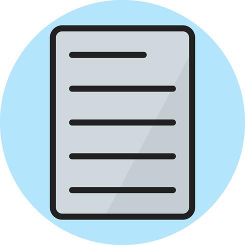 Icono de línea de documento llena vector