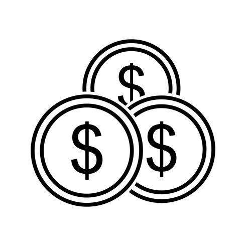 Icono de línea de inversión negro vector