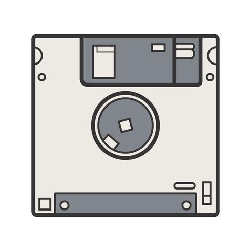 Ícone preenchido de linha disquete