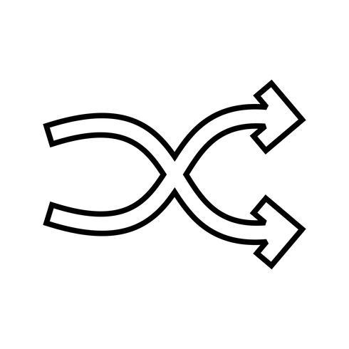Shuffle Line Black Icon vector