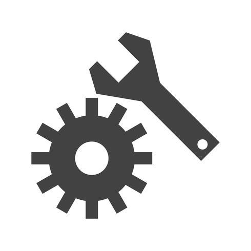 Configuración de icono de glifo negro vector