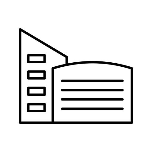 Icono de línea de construcción negro vector