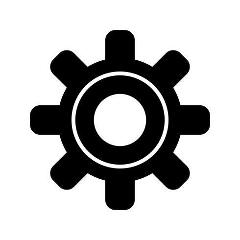 Configuración de icono de glifo negro