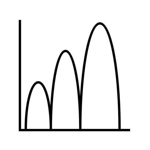 Gráfico en forma de campana. vector