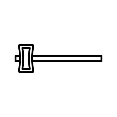 Martillo de trineo línea icono negro