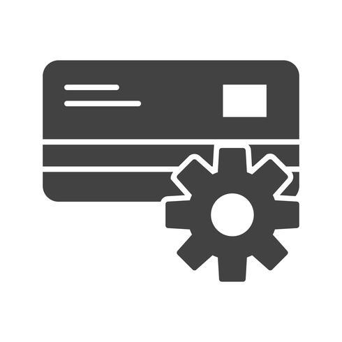 Zahlungs-Einstellung Glyphe Black Icon