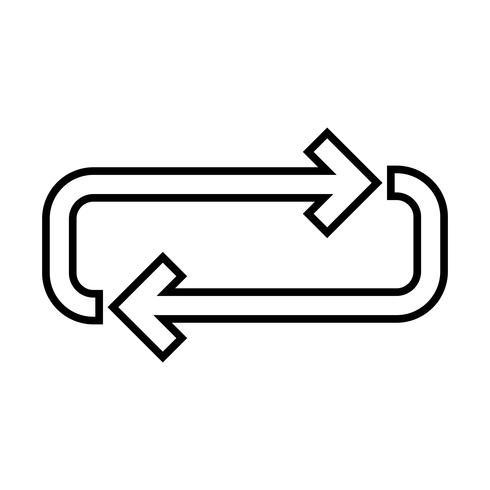 Looplijn zwart pictogram