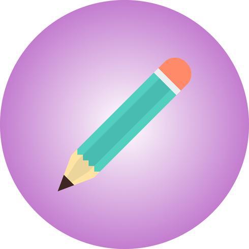 Potlood platte pictogram met achtergrond met kleurovergang