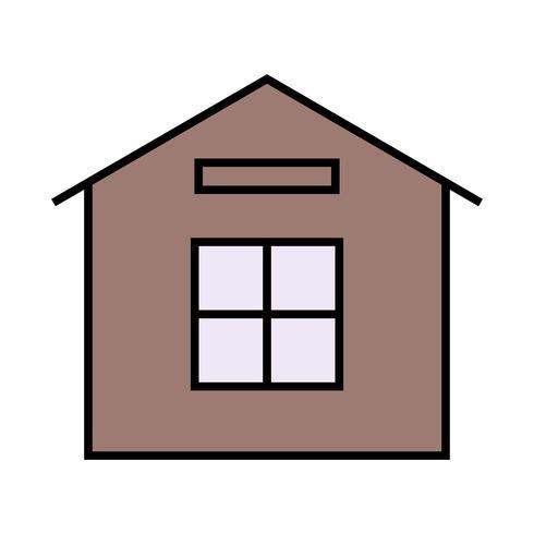 Icono de línea de casa llena