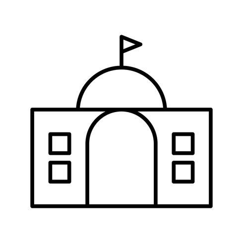 Icono de línea negra del gobierno vector