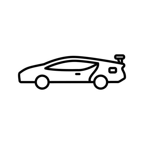 icono de la línea de coche deportivo negro
