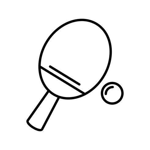 Icono de tenis de mesa línea negra
