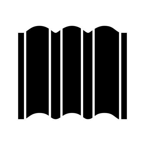 Hoja de metal Glyph Black Icon vector