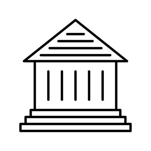 Museo línea negra icono