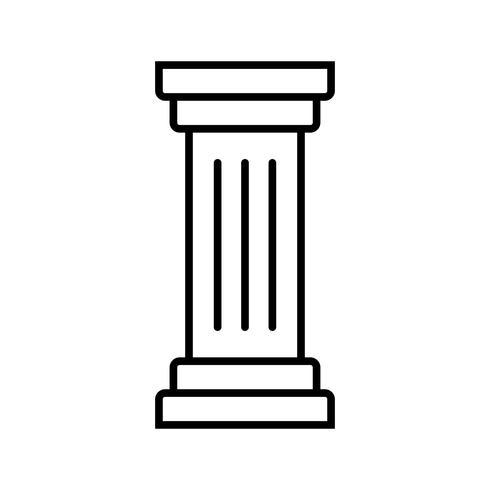 Columna Línea Icono Negro