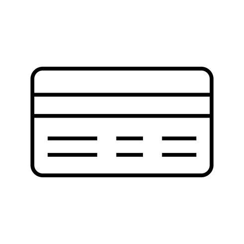 Icono de línea de pago negro
