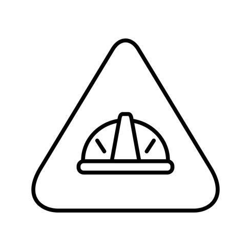 En construcción línea icono negro