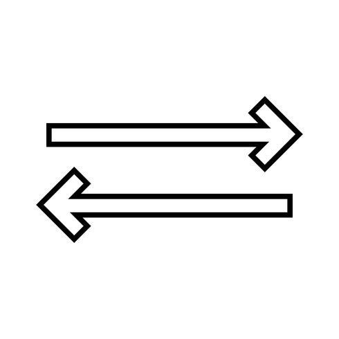 icono negro de la línea de sincronización vector