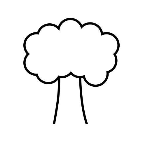 Icono de línea de árbol negro