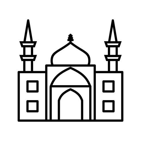 icona della linea nera moschea